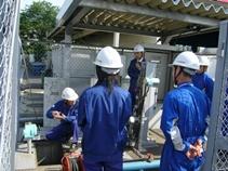 排水監視所での訓練2.JPG